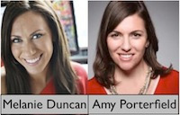 Melanie Duncan and Amy Porterfield